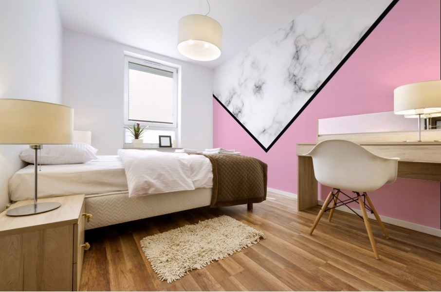 ABSTRACT PINKY MODERN MARBLE Mural print