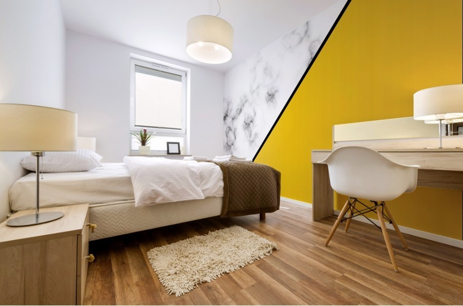 ABSTRACT MODERN YELLOW MARBLE Mural print