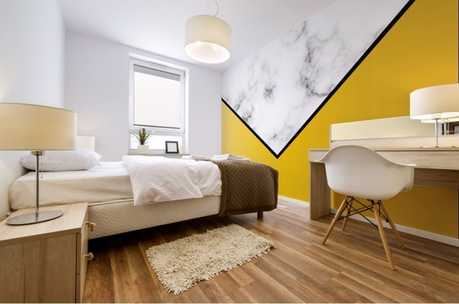 ABSTRACT YELLOW PASTEL MODERN MARBLE Mural print