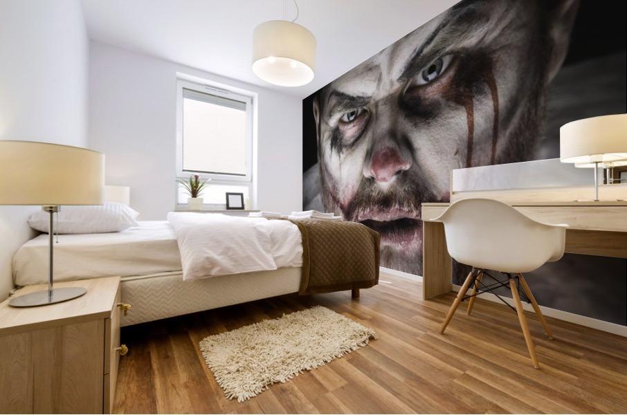 Scary Evil Clown Mural print