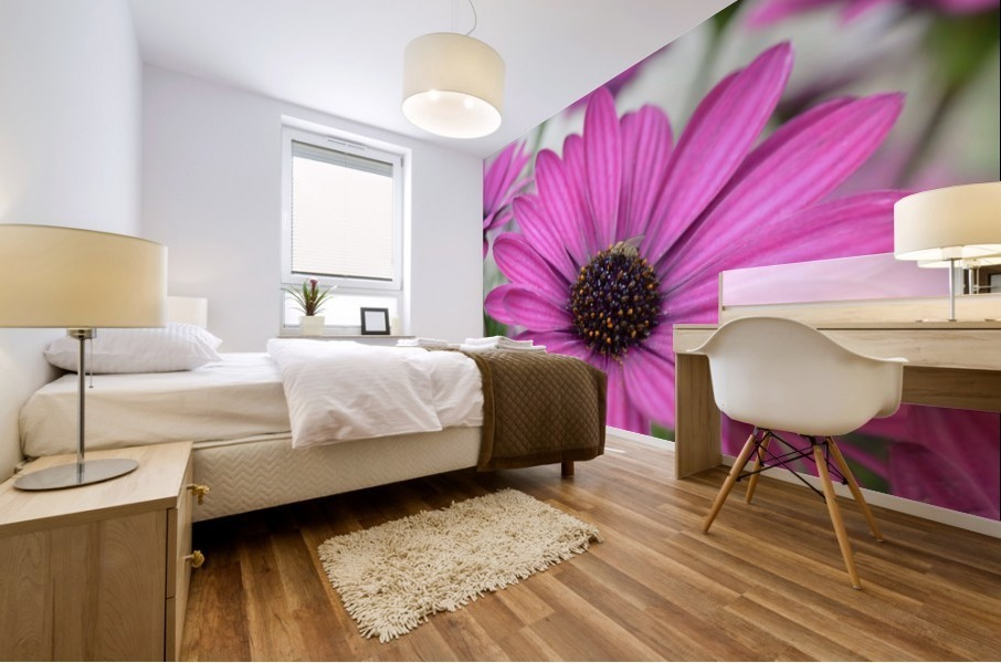 Purple Flower Photograph Mural print