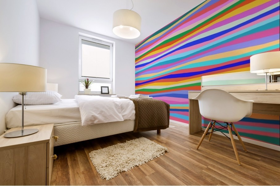 Wavy Stripes Abstract  Mural print