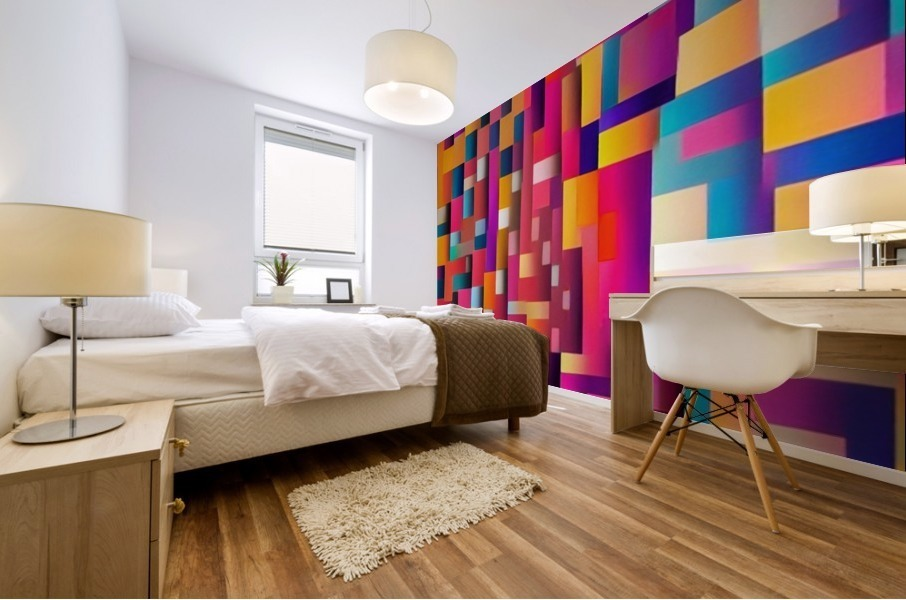 Geometric Abstract Painting Mural print