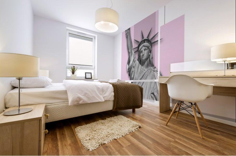 Poster Art NYC Statue of Liberty | light pink Mural print