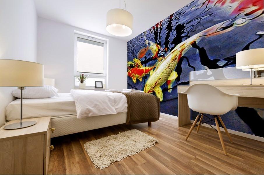 Koi Carp Huddle Mural print