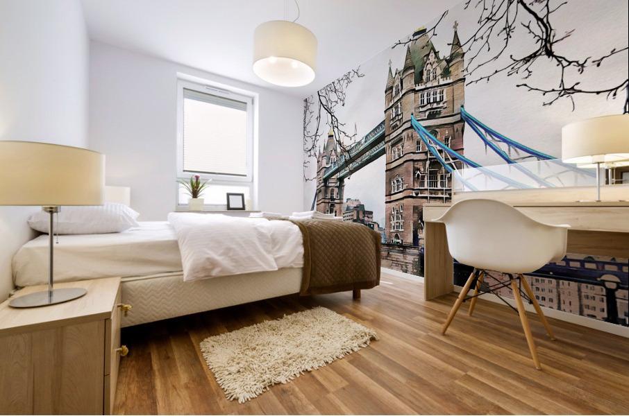 Tower Bridge London Mural print