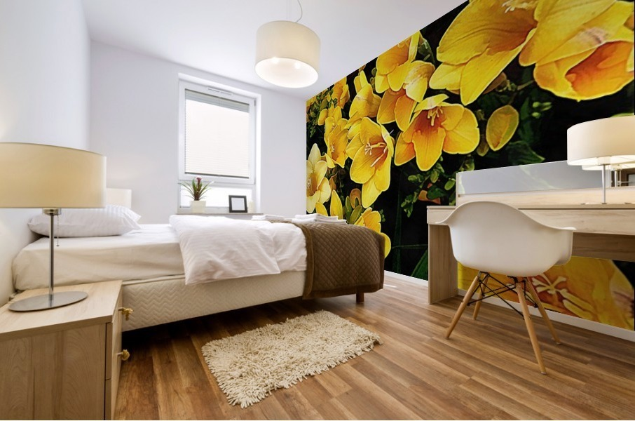 Yellow Freesias Mural print
