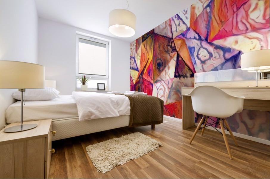 Modern Digital Abstract Painting Mural print