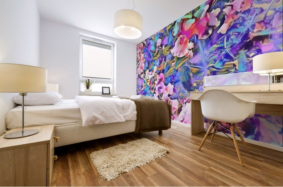 Pink and Blue Fusion Mural print