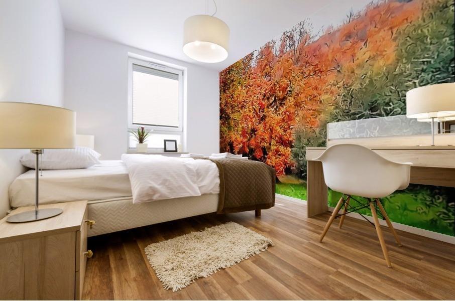 Autumn Golden Colours Umbria Mural print
