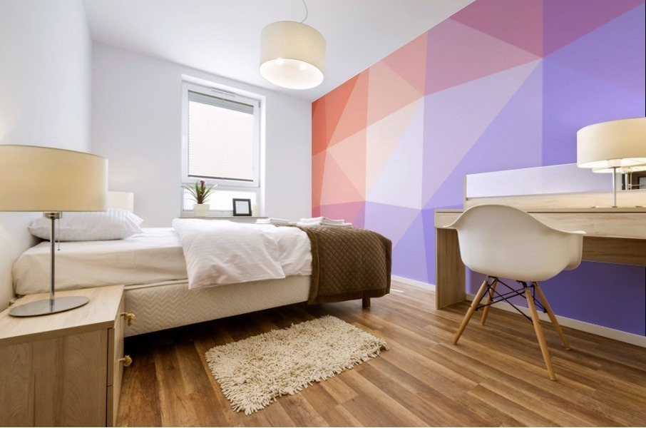 Abstract art patterns low poly polygon 3D backgrounds, textures, and vectors (2) Mural print