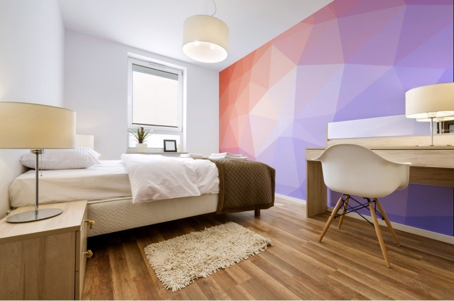 Abstract art patterns low poly polygon 3D backgrounds, textures, and vectors (8) Mural print