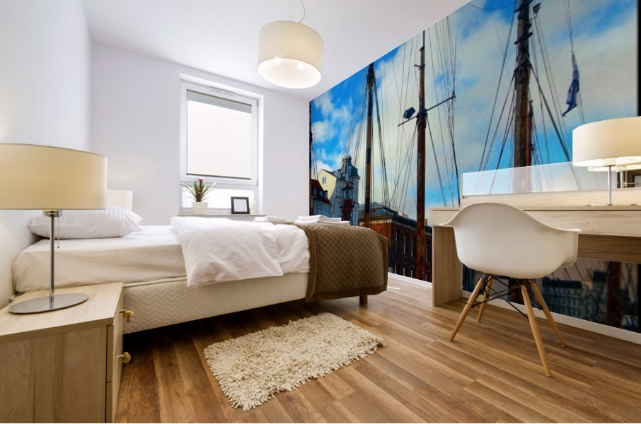 A Study in Masts Mural print