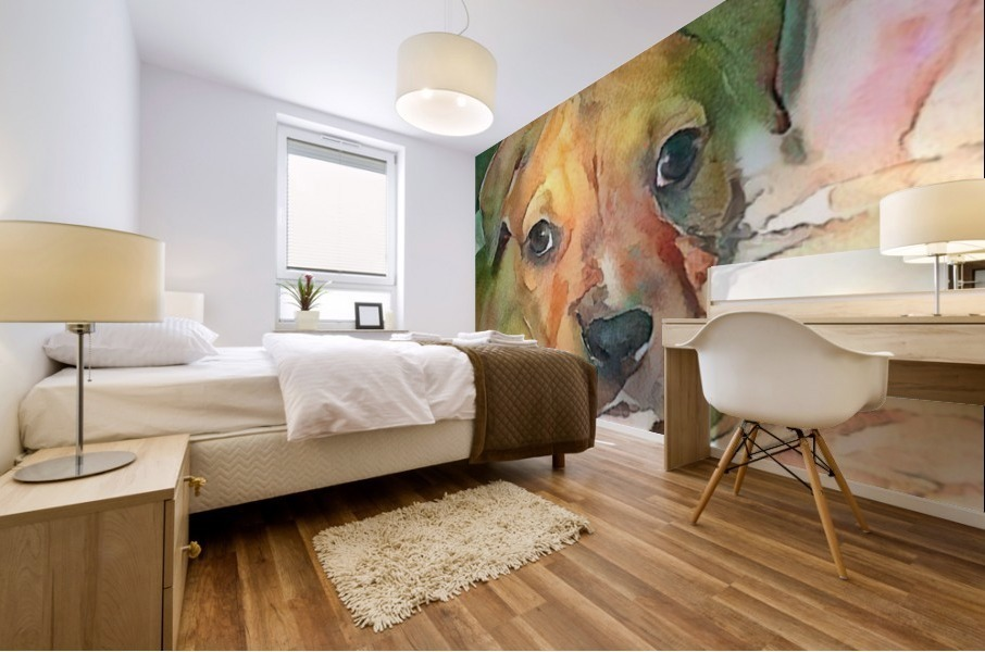 Dog Painting (20) Mural print