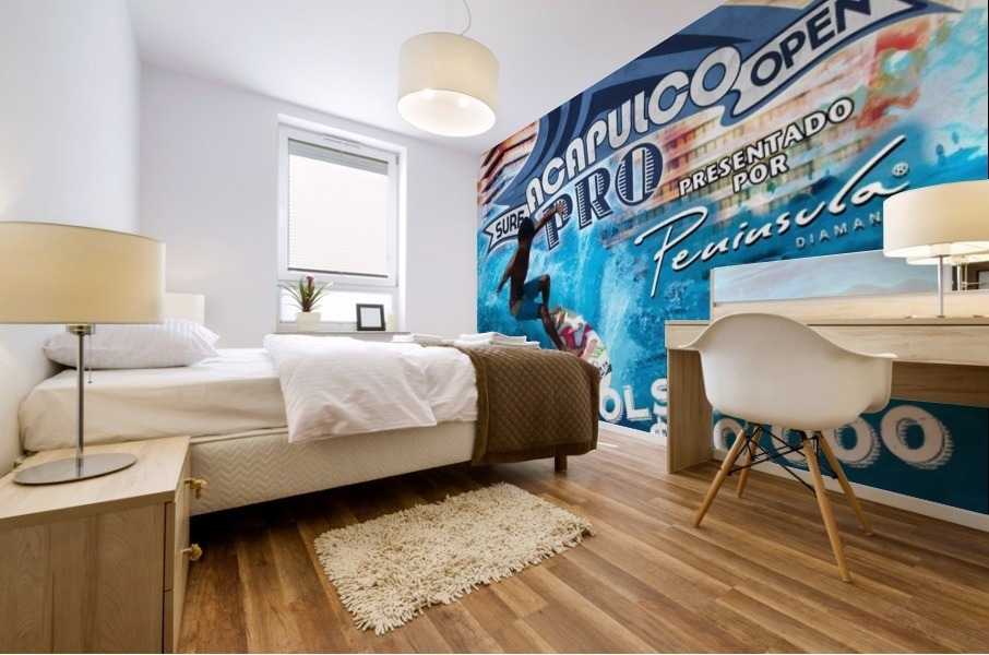 2013 ACAPULCO PRO Surf Competition Print Mural print