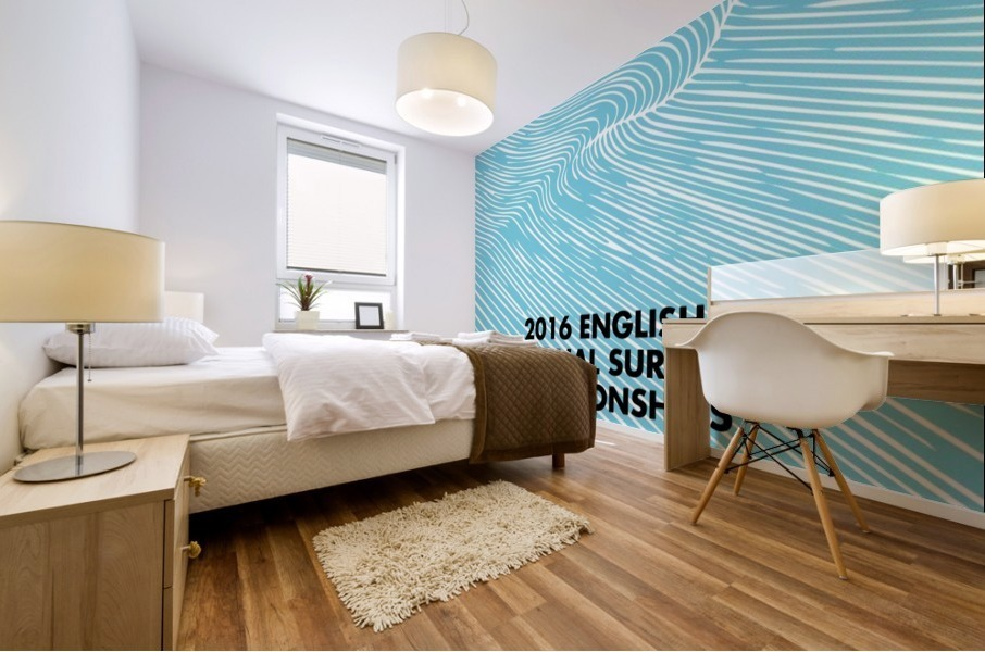 2016 ENGLISH NATIONAL SURFING Tournament Poster Mural print