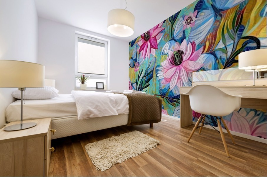 Colorful Floral Abstract  Mural print