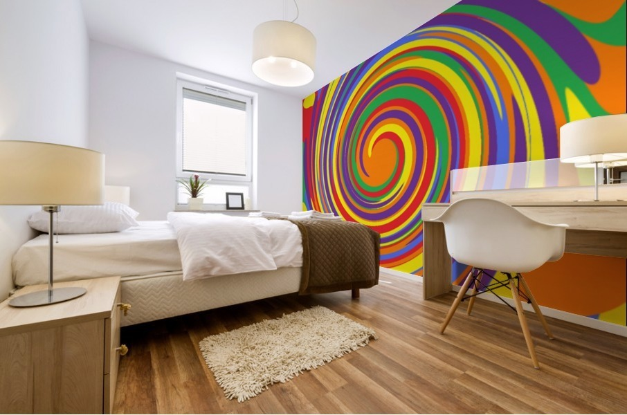 This is a beautiful design with great color, shape, line, texture, space and value.  (14) Mural print