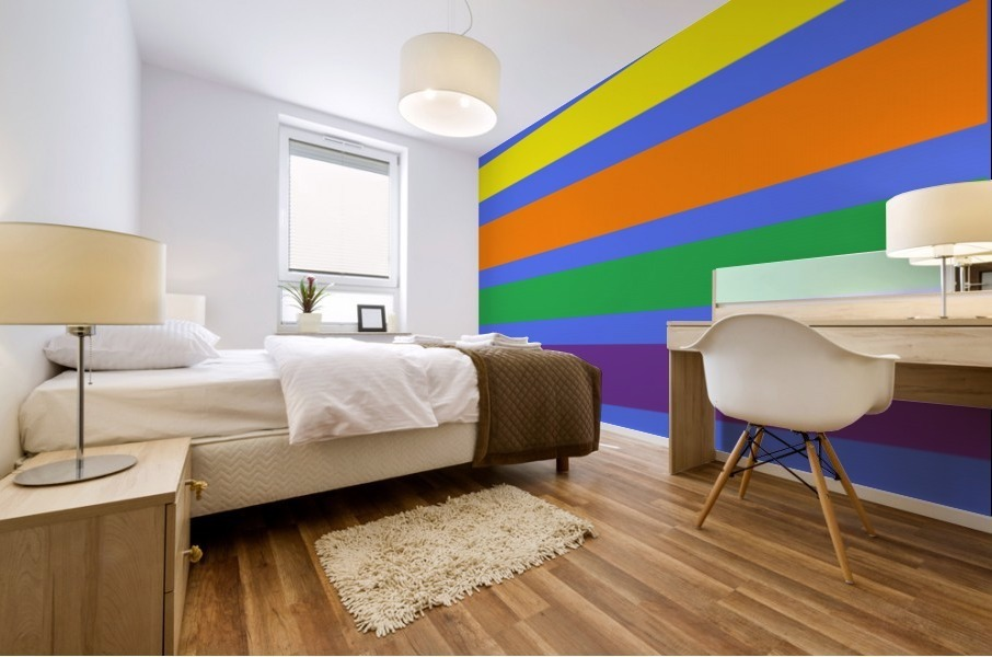 This is a beautiful design with great color, shape, line, texture, space and value.  (30) Mural print