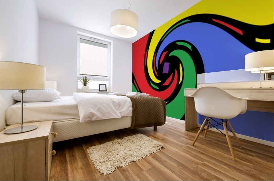 This is a beautiful design with great color, shape, line, texture, space and value.  (43) Impression murale