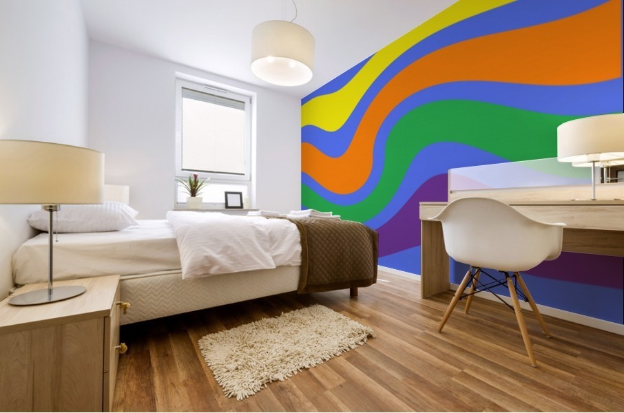 This is a beautiful design with great color, shape, line, texture, space and value.  (27) Mural print