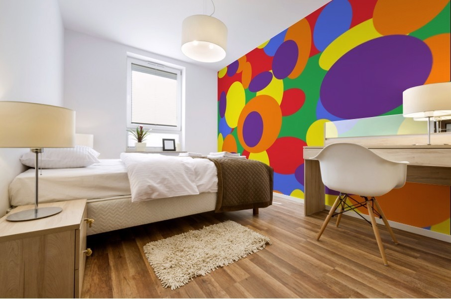 This is a beautiful design with great color, shape, line, texture, space and value.  (11) Impression murale