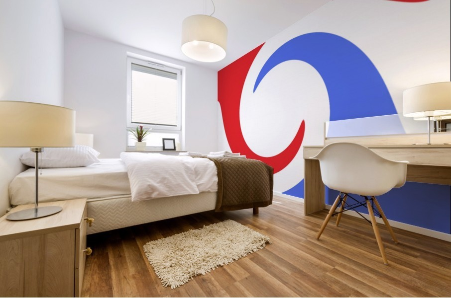 This is a beautiful design with great color, shape, line, texture, space and value.  (2) Mural print