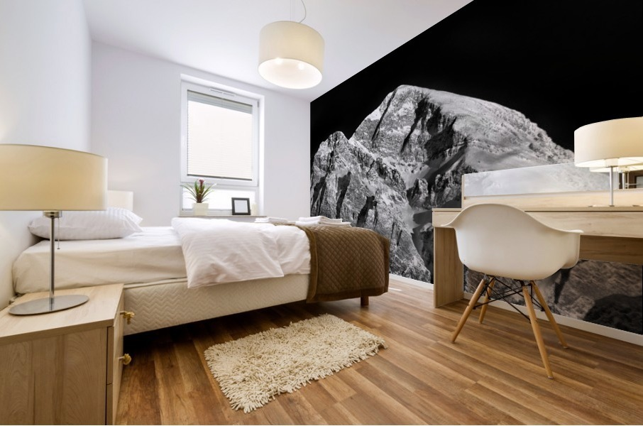 Mountain At Dawn... Mural print
