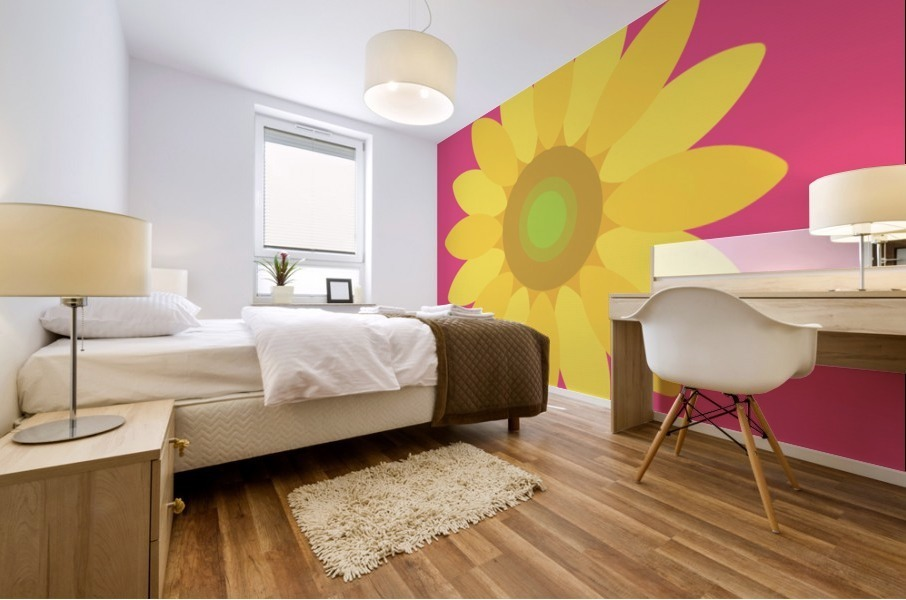 Sunflower (10) Mural print