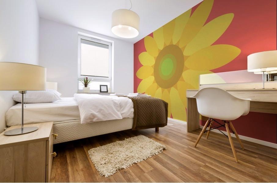 Sunflower (9) Mural print