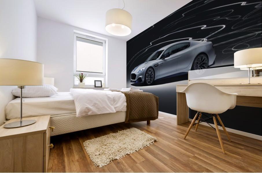 Aston martin rapid Car Mural print