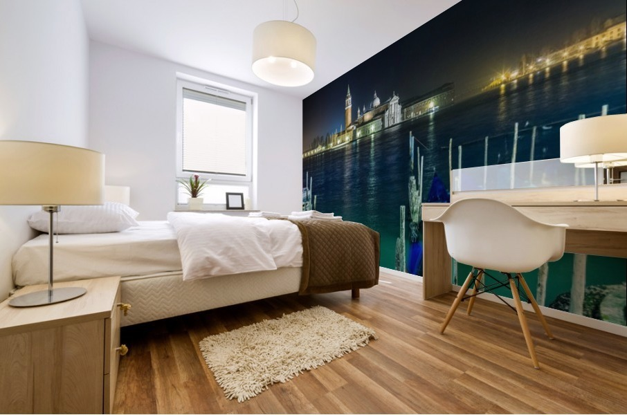 Venice by night Mural print