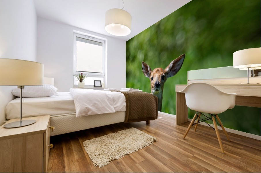 The Fawn and the Bumblebee Mural print