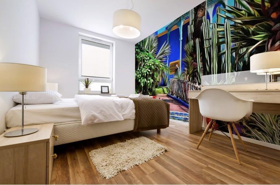 Approach To Cubist Villa Jardin Majorelle Mural print