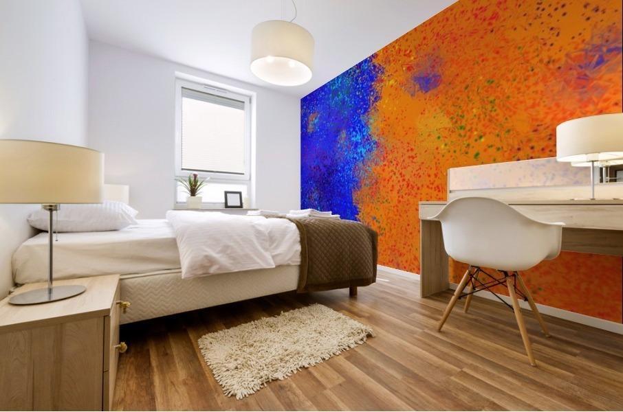 Seisnahorra - orange and blue balanced freedom Mural print