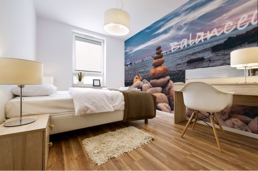 Life is better when its Balanced Mural print