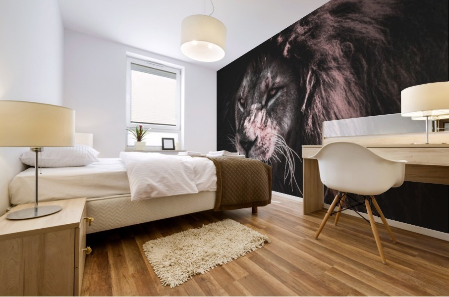 lion painting Mural print