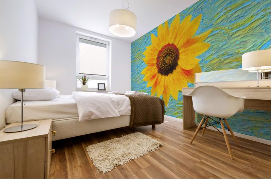 Sunflower. Mural print