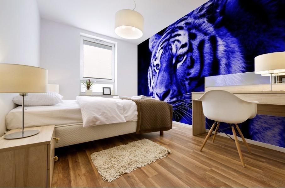 Tiger pop blue Mural print