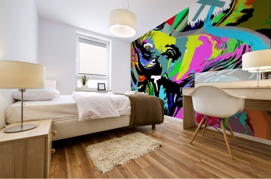 Color Elephant Mural print