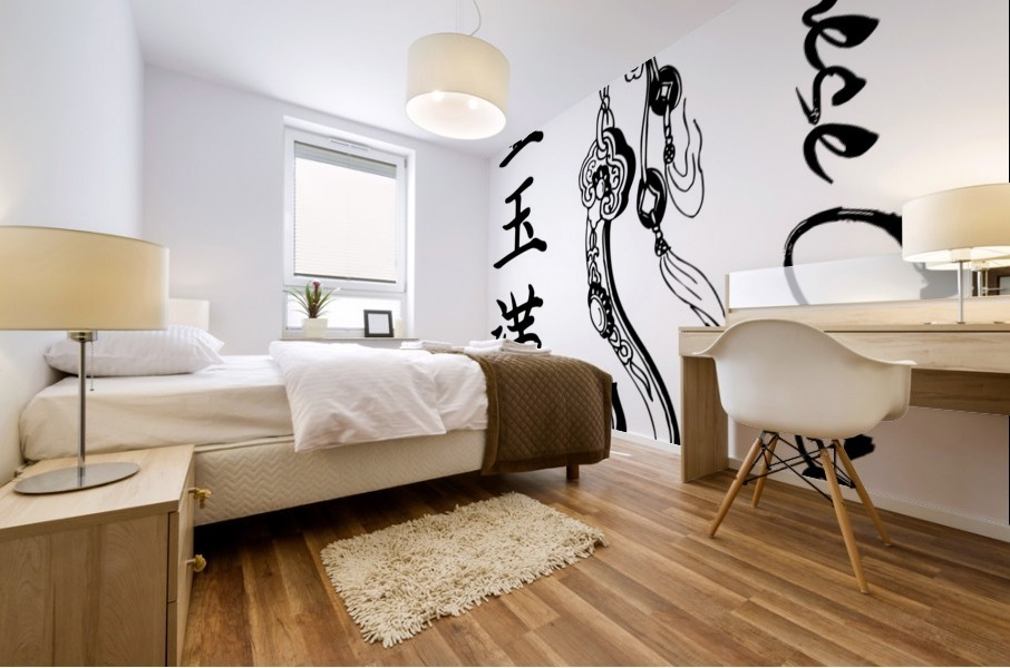 Chinese Concept 38A Mural print
