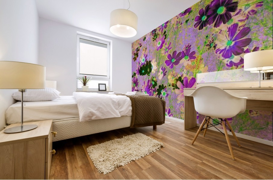 Flowers Garden Purple Mural print