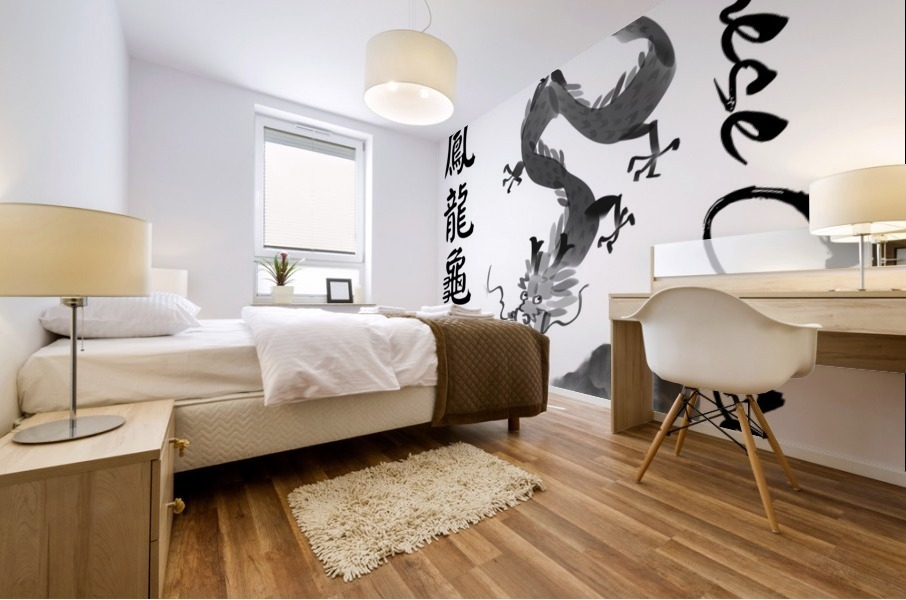 Chinese Concept 52A Mural print