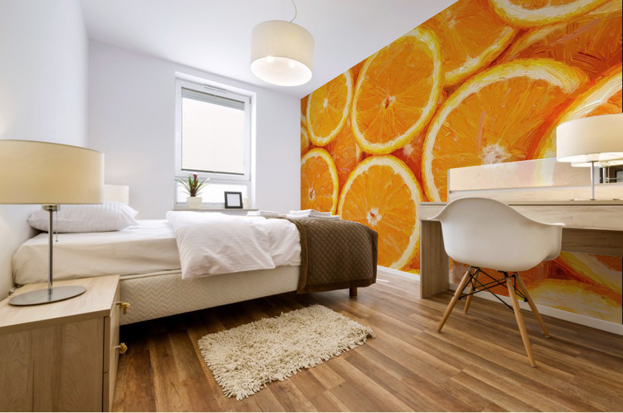 orange Mural print
