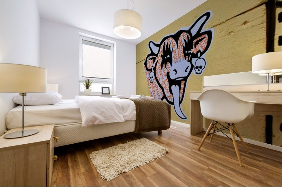 Demon Laughing Cow Mural print
