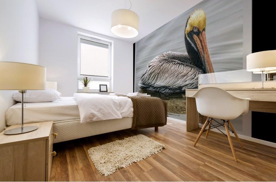 Brown Pelican II - HDR Mural print