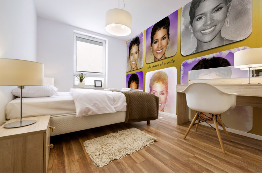 Halle Berry pop star celebrity  Mural print