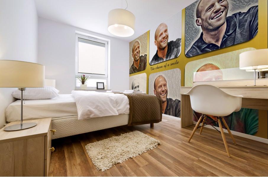 Jason Statham pop star celebrity Mural print