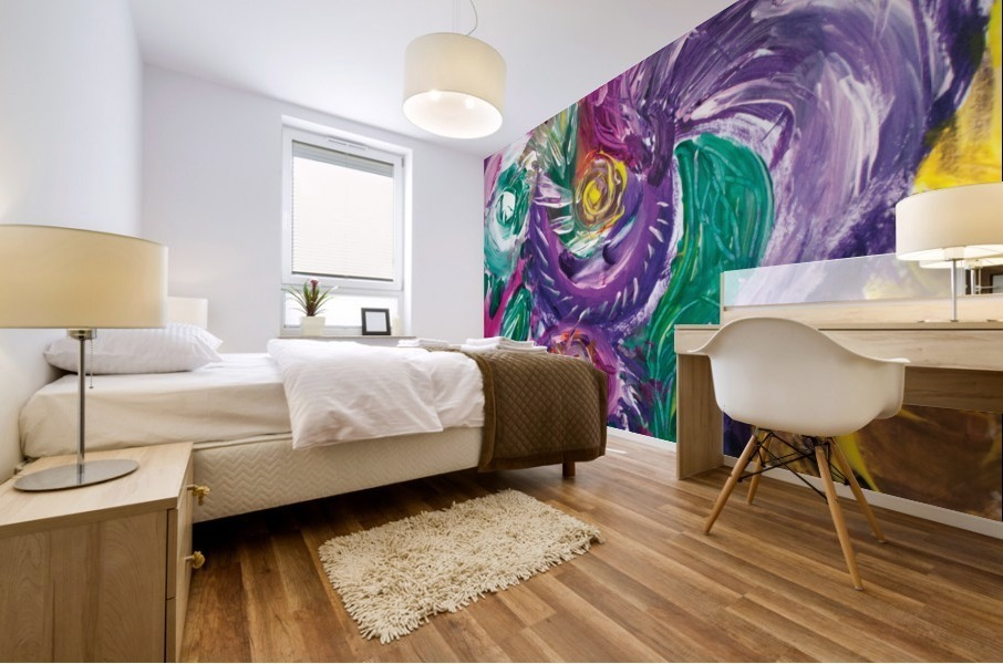 purple tones abstract Mural print