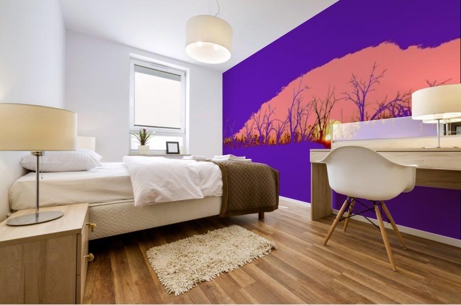 Lake Sunset - Purple Mural print